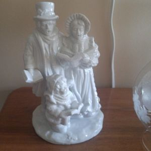 White porcelain Christmas carolers